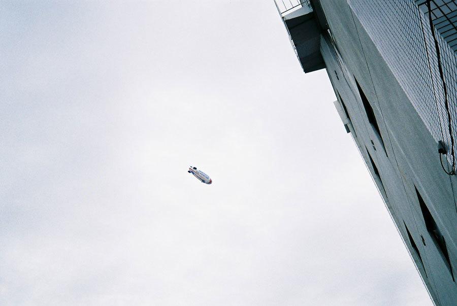 祇園の飛行船
