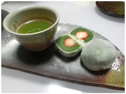 いちご抹茶大福6