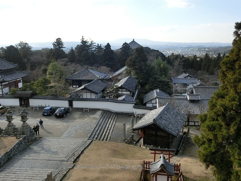 13 二月堂の回廊から奈良平野