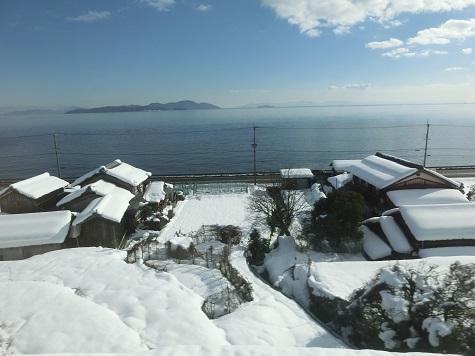 18 湖西線の景色・琵琶湖