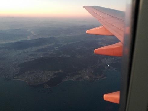 8 金海国際空港を離陸