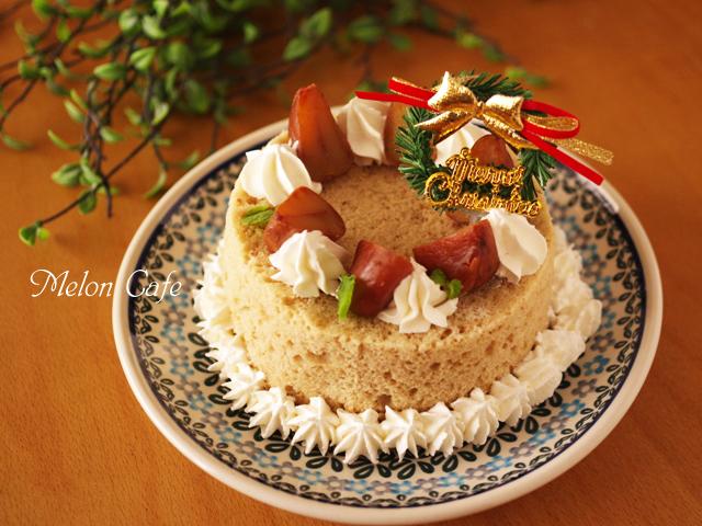 超簡単ホットケーキミックスと栗のクリスマスケーキ
