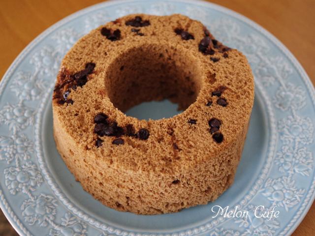 レンジで簡単ホットケーキミックスのココアシフォンケーキチョコチップ入り06