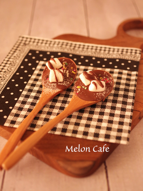 超簡単チョコレートスプーン