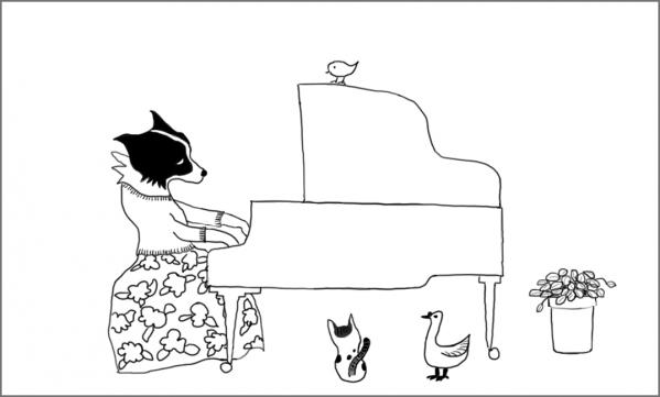 piano 枠あり 横短