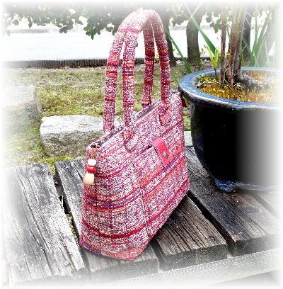 裂き織りバッグ10-3