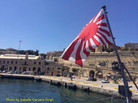 マルタ、グランドハーバーの旭日旗