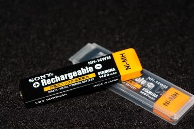 ポータブルオーディオの電池