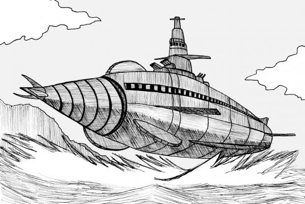 長きにわたって地球を防衛した海底軍艦