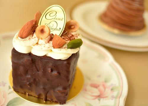 【ケーキ】シャンドワゾー「トロワショコラ」 (1)