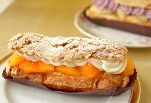 【ケーキ】リョウラ「柿のエクレール」 (2)