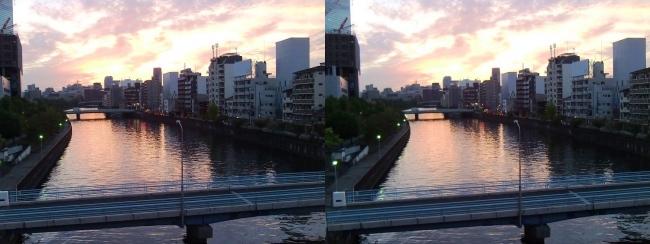 大阪ビジネスパーク夕景③(平行法)