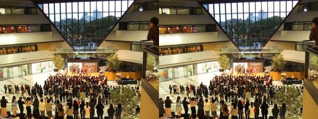 大阪ビジネスパーク夕景②(平行法)