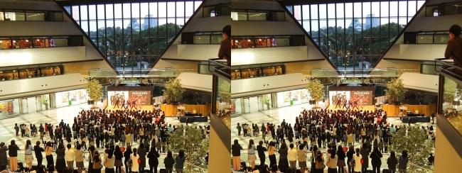 大阪ビジネスパーク夕景②(交差法)
