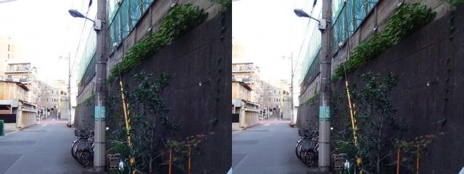 天王寺区空堀町(交差法)