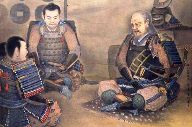 真田父子犬伏密談図 上田市博物館所蔵