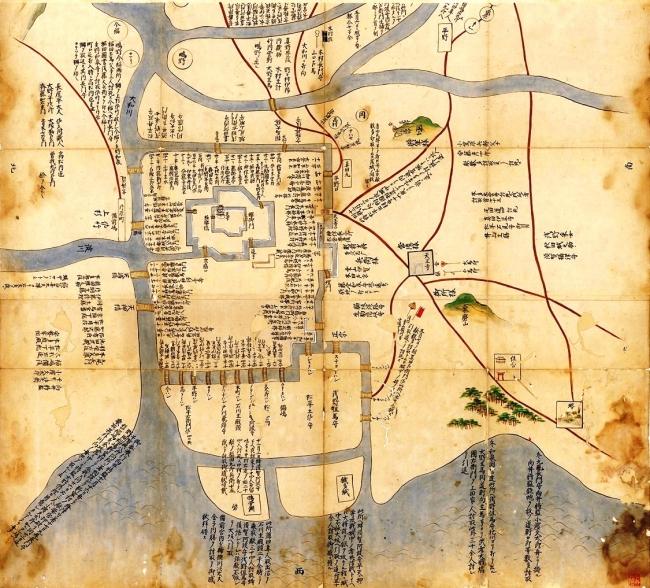 大坂冬の陣絵図(大坂城近郊絵図)