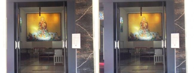 大阪カテドラル聖マリア大聖堂 栄光の聖母マリア大壁画(平行法)