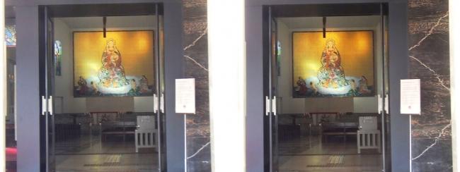 大阪カテドラル聖マリア大聖堂 栄光の聖母マリア大壁画(交差法)