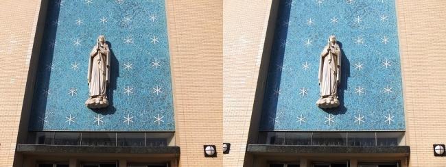 大阪カテドラル聖マリア大聖堂 栄光の聖母マリア像(平行法)