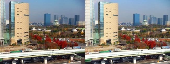 大阪医療センターからの中央大通(平行法)