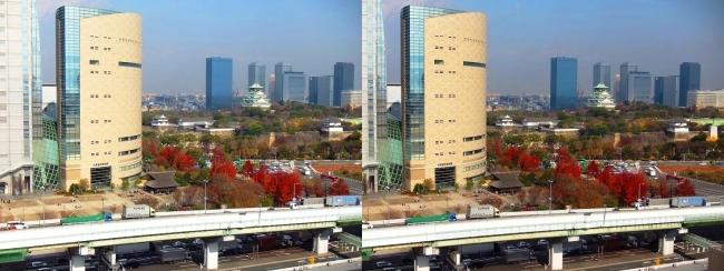 大阪医療センターからの中央大通(交差法)