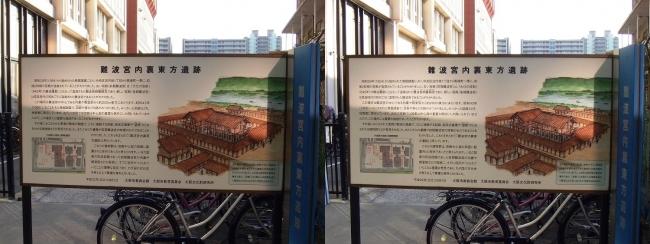 難波宮内裏東方遺跡 案内図(平行法)