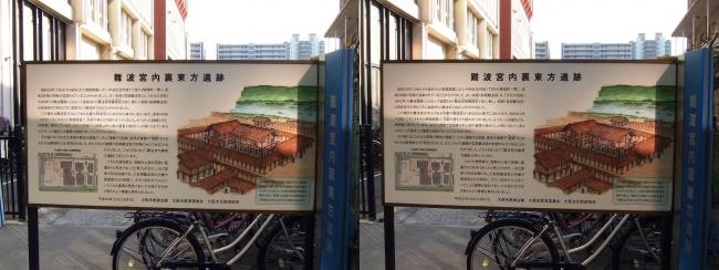 難波宮内裏東方遺跡 案内図(交差法)