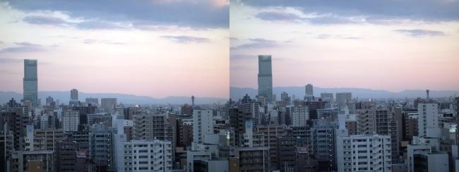 大阪医療センターからの眺望②(平行法)
