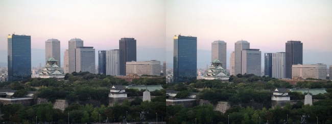 大阪医療センターからの眺望①(平行法)