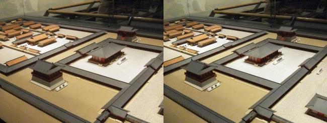 後期・難波宮 奈良時代前半 再現模型(平行法)