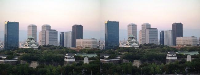 大阪医療センターからの眺望①(交差法)