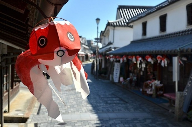 山口県柳井市の郷土民芸品「金魚ちょうちん」