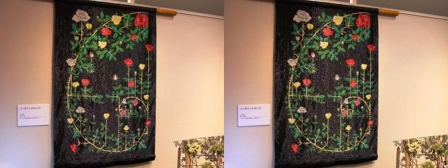 「神の手・ニッポン展」ビーズアーティスト鈴木美帆「フィボナッチのバラ」(平行法)