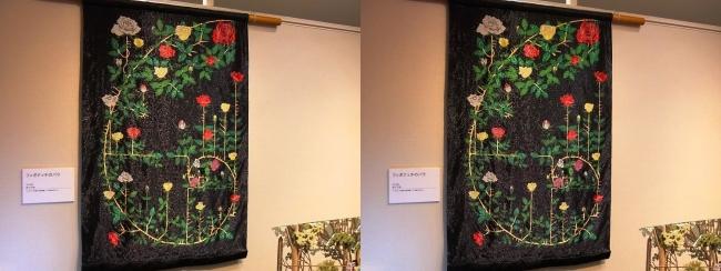 「神の手・ニッポン展」ビーズアーティスト鈴木美帆「フィボナッチのバラ」(交差法)