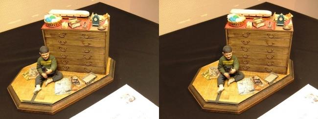 「神の手・ニッポン展」ジオラマアーティスト山田卓司「プラモデルの日」①(交差法)