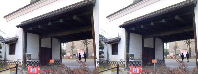 慶沢園 黒田藩蔵屋敷長屋門(平行法)