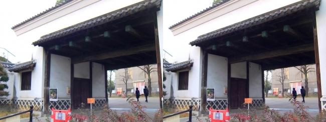 慶沢園 黒田藩蔵屋敷長屋門(交差法)