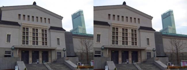 大阪市立美術館①(交差法)