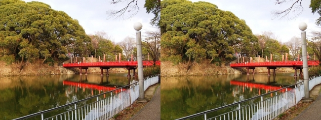 天王寺公園 茶臼山 和気橋②(平行法)