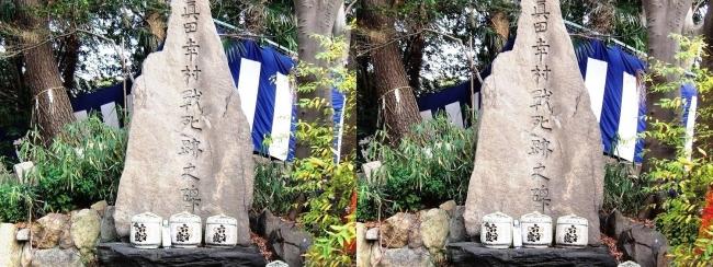安居神社 真田幸村戰死跡之碑(交差法)