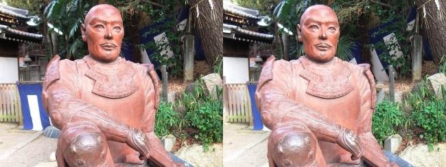 安居神社 真田幸村公之像②(平行法)