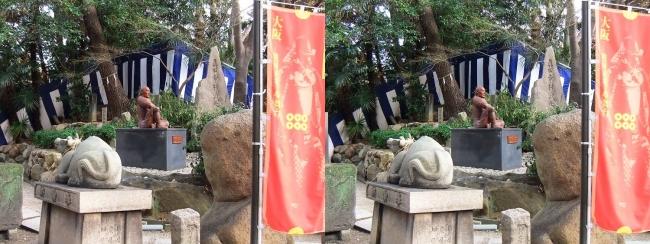安居神社 境内(平行法)