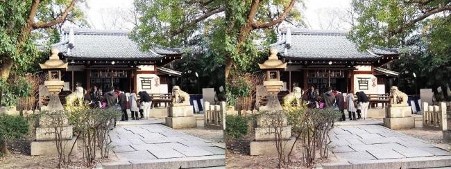 安居神社 拝殿(交差法)