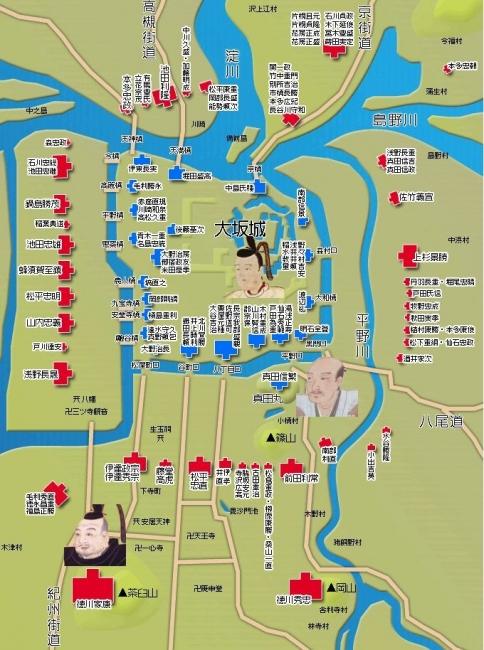 大坂冬の陣 布陣図