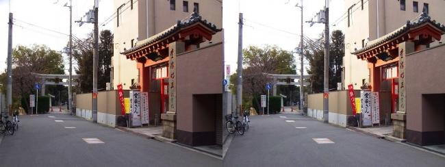 愛染堂 勝鬘院・大江神社(平行法)