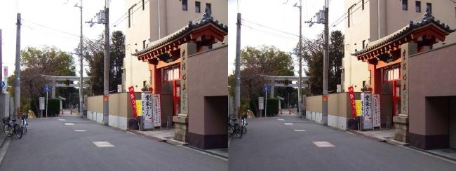 愛染堂 勝鬘院・大江神社(交差法)