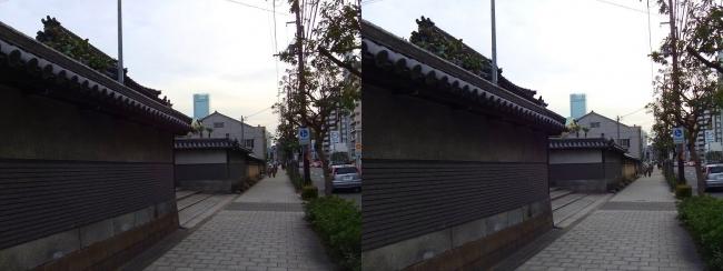 松屋町筋 光明寺(平行法)