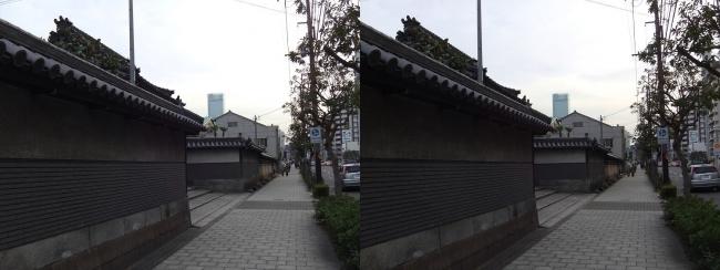 松屋町筋 光明寺(交差法)