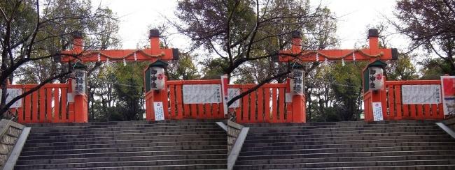 生國魂神社①(交差法)